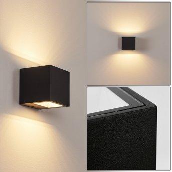Spidern Außenwandleuchte LED Schwarz, 1-flammig