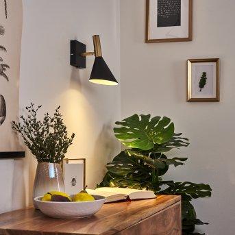 Hybla Wandleuchte LED Schwarz, Gold, 1-flammig