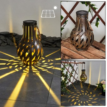 Soulé Solarleuchte LED Braun, 1-flammig