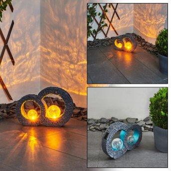 Siviri Solarleuchte LED Blau, Grau, Transparent, Klar, 1-flammig