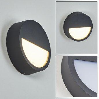 Nagap Außenwandleuchte LED Anthrazit, Weiß, 1-flammig