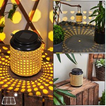 Sessivi Solar-Tischleuchte LED Schwarz, Braun, 1-flammig