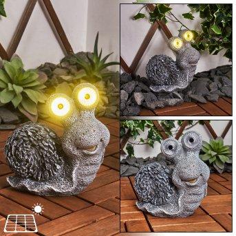 Sunderby Solarleuchte LED Grau, Orange, 2-flammig
