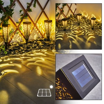 Staranzano Solarleuchte LED Gelb, Schwarz, 1-flammig