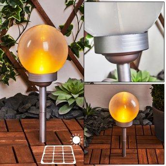 Kanganbou Solarleuchte LED Nickel-Matt, 18-flammig