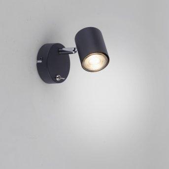 Leuchten Direkt TARIK Wandleuchte LED Schwarz, 1-flammig