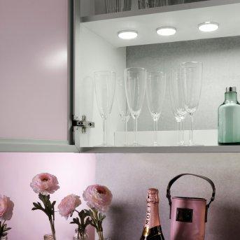 Leuchten Direkt THEO Unterbauleuchten 3er Set LED Silber, 3-flammig