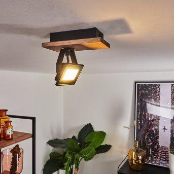 Giresta Deckenleuchte LED Schwarz, Braun, 1-flammig