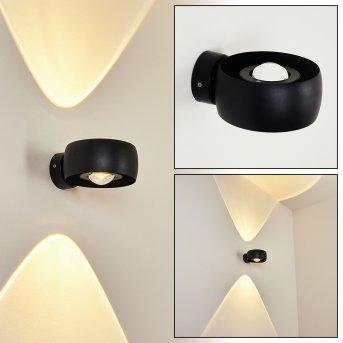 Andersro Außenwandleuchte LED Schwarz, 2-flammig