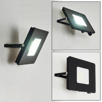 Krokane Außenwandleuchte LED Schwarz, Weiß, 1-flammig