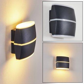 Seggio Außenwandleuchte LED Schwarz, 2-flammig