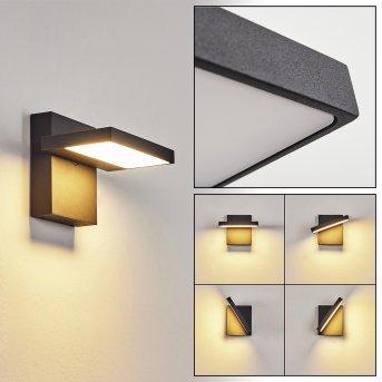 Lyckan Außenwandleuchte LED Schwarz, 1-flammig