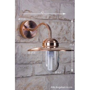 Nordlux LUXEMBOURG Außenwandleuchte Kupfer, Transparent, Klar, 1-flammig