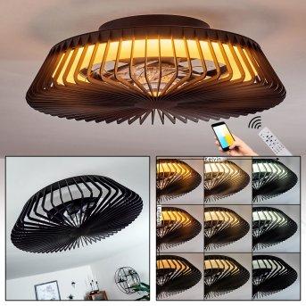 Rivarotta Deckenventilator LED Weiß, 1-flammig, Fernbedienung