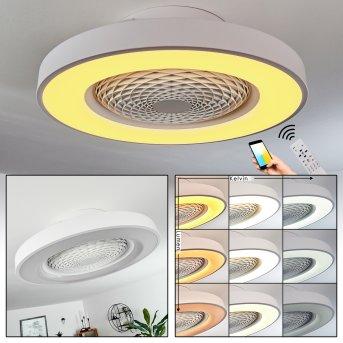 Penon Deckenventilator LED Weiß, 1-flammig, Fernbedienung
