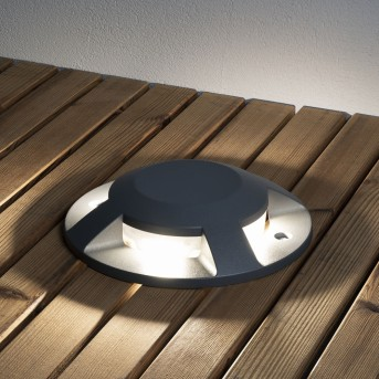 Konstsmide  Bodeneinbauleuchte LED Anthrazit, 4-flammig