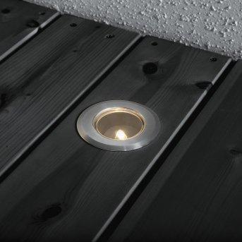 Konstsmide Mini 3er-Set Bodeneinbauleuchte Silber, 3-flammig