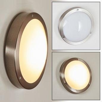 Alleen Außenwandleuchte LED Nickel-Matt, 3-flammig