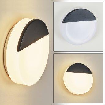 Eppeland Außenwandleuchte LED Schwarz, 1-flammig