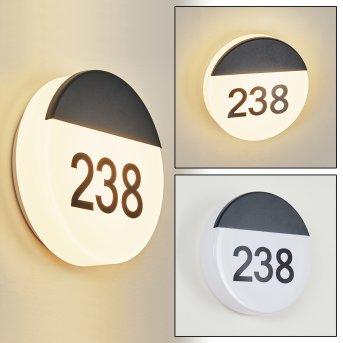 Eppeland Hausnummernleuchte LED Schwarz, 1-flammig
