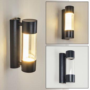 Aadland Außenwandleuchte LED Schwarz, 2-flammig