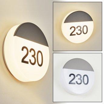 Eppeland Hausnummernleuchte LED Anthrazit, 1-flammig