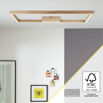 Brilliant Delgrosso Deckenleuchte LED Holz hell, 1-flammig