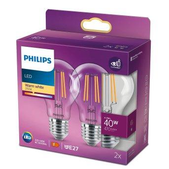Philips 2er Set LED E27 4,3 Watt 2700 Kelvin 470 Lumen
