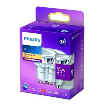 Philips 2er Set LED GU10 3,5 Watt 2700 Kelvin 255 Lumen