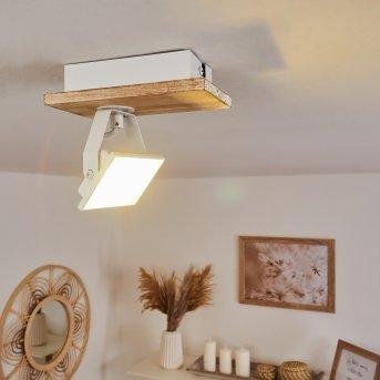 Giresta Deckenleuchte LED Weiß, Naturfarben, 1-flammig