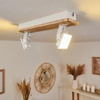 Giresta Deckenleuchte LED Weiß, Naturfarben, 2-flammig