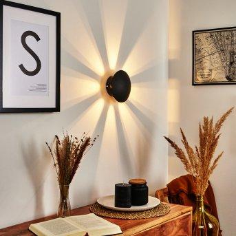 Mezia Wandleuchte LED Schwarz, 1-flammig
