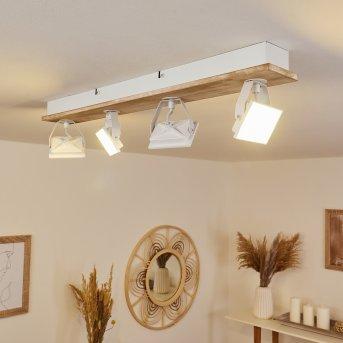 Giresta Deckenleuchte LED Weiß, 4-flammig