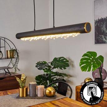 Rodeche Pendelleuchte LED Schwarz, 1-flammig