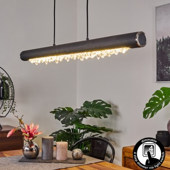 Rodeche Pendelleuchte LED Silber, 1-flammig