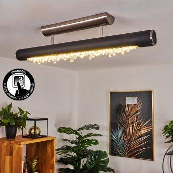 Rodeche Deckenleuchte LED Nickel-Matt, Schwarz, 1-flammig