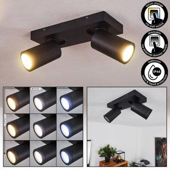 Hakamken Deckenleuchte LED Schwarz, 2-flammig