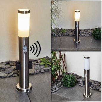 Gaborone Wegeleuchte LED Nickel-Matt, 1-flammig, Bewegungsmelder