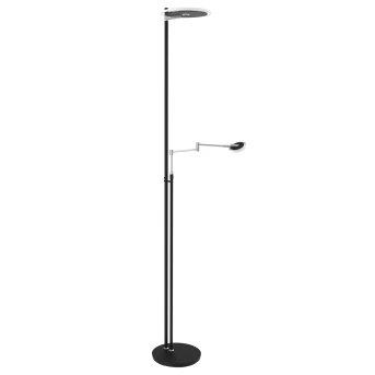 Steinhauer Turound Stehlampe LED Schwarz, Edelstahl, 2-flammig