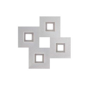 Grossmann KARREE Deckenleuchte LED Aluminium, Titan, 4-flammig