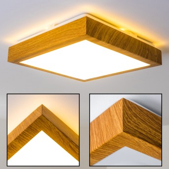 Sora Wood  Deckenlampe LED Holz hell, 1-flammig