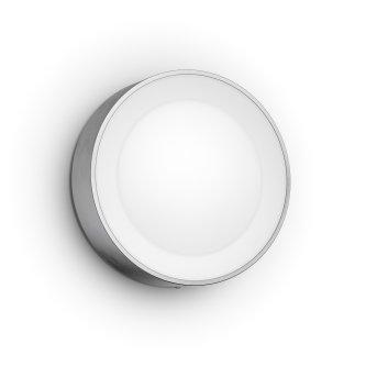 Philips Hue White & Color Ambiance Daylo Wandleuchte LED Edelstahl, 1-flammig