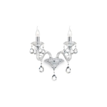 Ideal Lux NEGRESCO Wandleuchte Chrom, Kristalloptik, 2-flammig