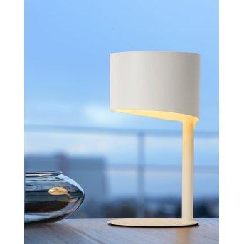 Lucide KNULLE Tischlampe Weiß, 1-flammig