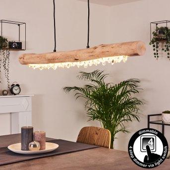 Calumet Pendelleuchte LED Schwarz, Braun, 1-flammig