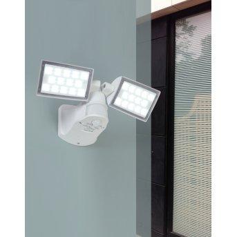 Lutec PERI Aussenwandstrahler LED Weiß, 2-flammig, Bewegungsmelder