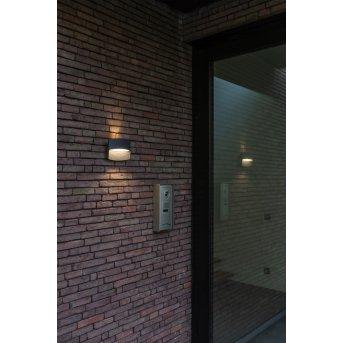 Lutec Lotus Außenwandleuchte LED Anthrazit, 1-flammig