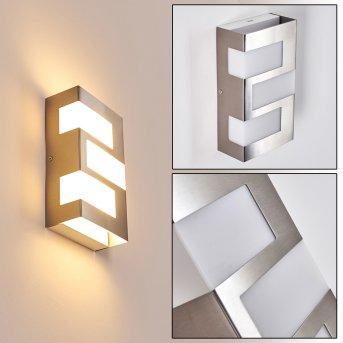 Lannion Außenwandleuchte LED Edelstahl, 3-flammig