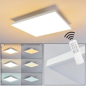 Salmi Deckenpanel LED Weiß, 1-flammig, Fernbedienung