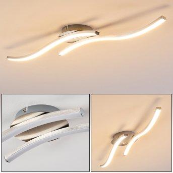 Nendaz Deckenleuchte LED Nickel-Matt, 2-flammig
